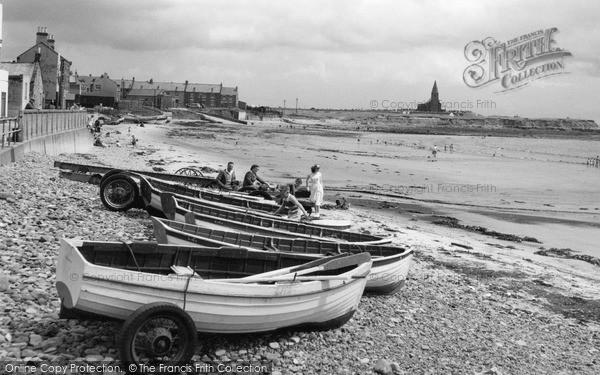 Photo of Newbiggin-By-The-Sea, the Beach c1960, ref. N76045
