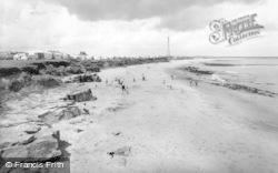 Newbiggin-By-The-Sea, The Caravan Site And Beach c.1955