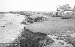 Newbiggin-By-The-Sea, The Caravan Site And Church c.1955
