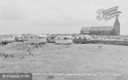 Newbiggin-By-The-Sea, The Caravan Site And Church c.1960