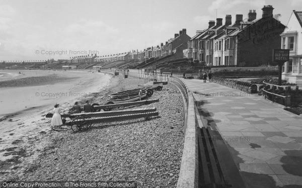 Photo of Newbiggin-By-The-Sea, the Promenade c1955, ref. N76054