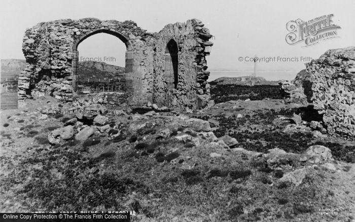 Photo of Newborough, Abbey Ruins And Memorial c.1955