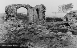 Abbey Ruins And Memorial c.1955, Newborough