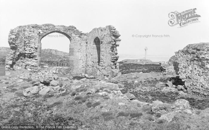 Photo of Newborough, Abbey Ruins And Memorial c.1960