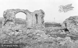 Abbey Ruins And Memorial c.1960, Newborough
