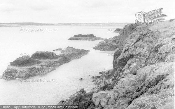 Photo of Newborough, Cliffs, Llanddwyn Island c.1960