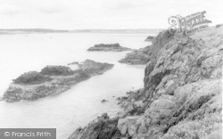 Cliffs, Llanddwyn Island c.1960, Newborough