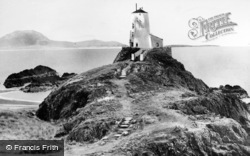 Lighthouse, Llanddwyn Island c.1960, Newborough