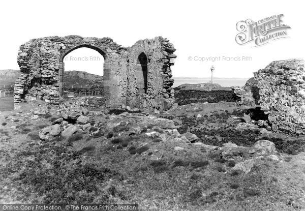Photo of Newborough, Llanddwyn Abbey And The Memorial c.1950