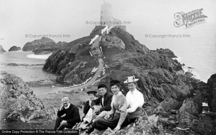 Photo of Newborough, Llanddwyn Island, The Lighthouse c.1900