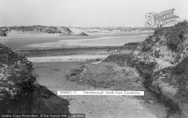 Photo of Newborough, Sands From The Causeway c.1950