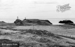 The Lighthouse And Abbey, Llanddwyn Island c.1960, Newborough
