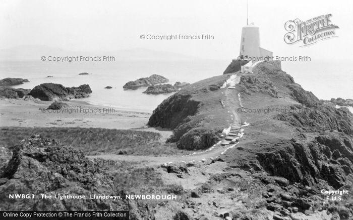 Photo of Newborough, The Lighthouse, Llanddwyn c.1950