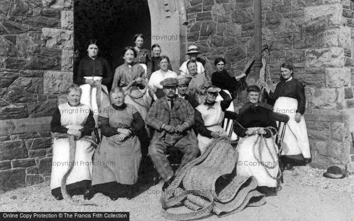 Photo of Newborough, The Newborough Mat Makers Association 1914