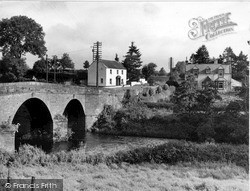 Newbridge, The Bridge Over The River Cairn c.1955