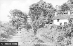 Newbridge, Towpath And Canal c.1955