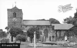 Newburn, Parish Church c.1955