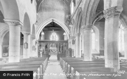 Newburn, Parish Church Chancel c.1955