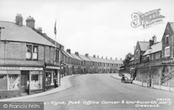 Newburn, Post Office Corner And Warkworth Crescent c.1955
