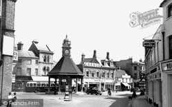 Newbury, The Clock Tower From Oxford Road c.1955
