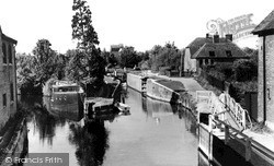 Newbury, The River Kennet And Canal From The Bridge c.1960