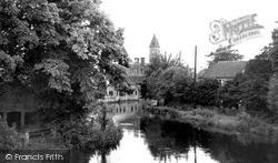 Newbury, View From Victoria Park Bridge c.1950