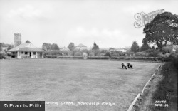 Newcastle Emlyn, Bowling Green c.1955