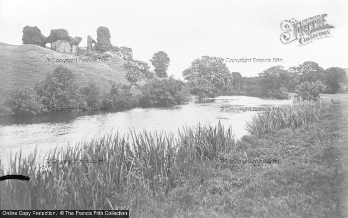 Photo of Newcastle Emlyn, Castle Ruins And River Teifi c.1932