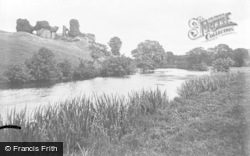 Newcastle Emlyn, Castle Ruins And River Teifi c.1932