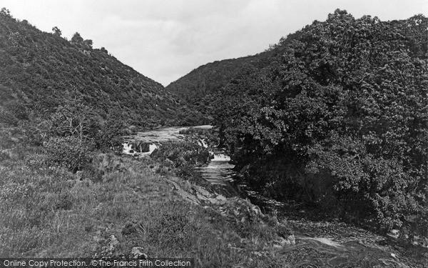 Newcastle Emlyn, Cenarth Falls c1935
