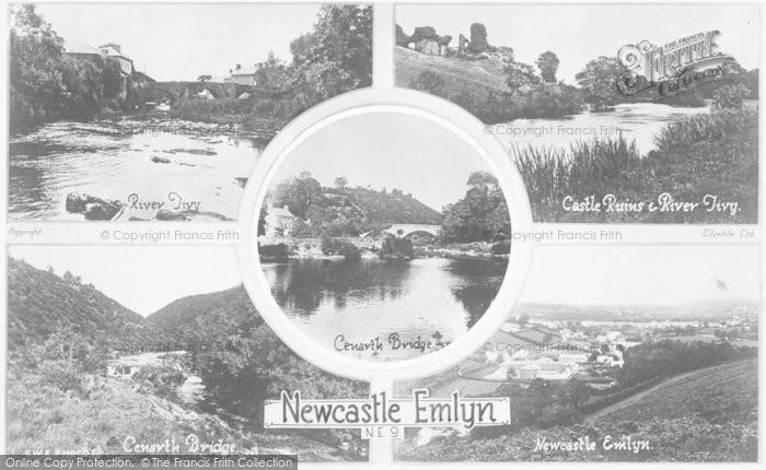 Photo of Newcastle Emlyn, Composite c.1930