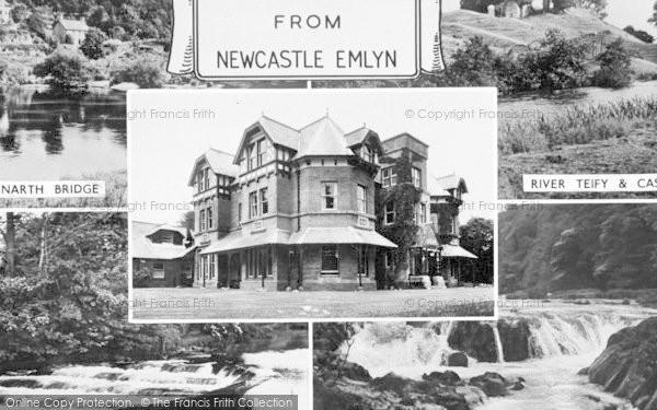Photo of Newcastle Emlyn, Composite c.1955