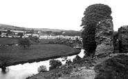 Newcastle Emlyn, from Castle Ruins 1932