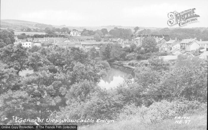 Photo of Newcastle Emlyn, General View c.1960