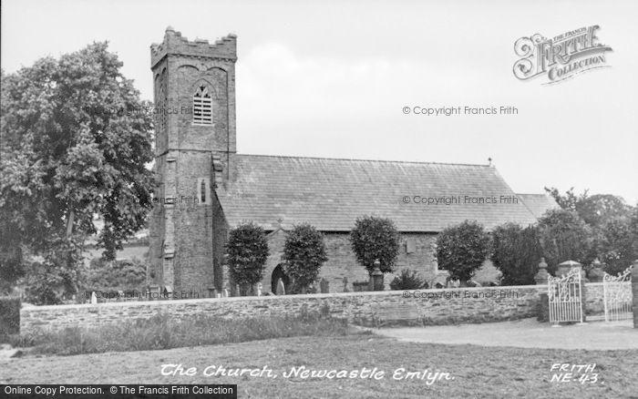 Photo of Newcastle Emlyn, Holy Trinity Church c.1960