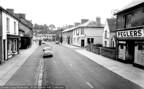 Photo of Newcastle Emlyn, Main Street c.1960