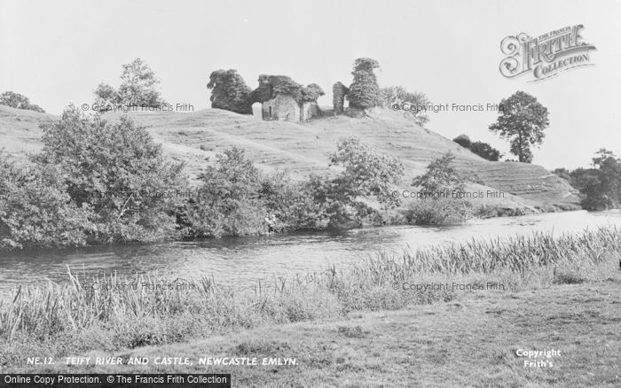 Photo of Newcastle Emlyn, Teify River And Castle c.1955