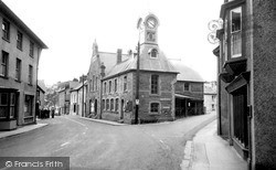 Newcastle Emlyn, The Clock Tower And Market Square c.1960