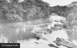 Newcastle Emlyn, The River Teifi c.1955