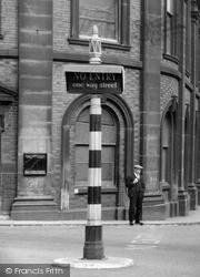 Newcastle Under Lyme, Street Sign c.1951