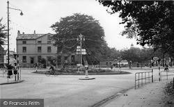 Newcastle Under Lyme, The Roundabout c.1950