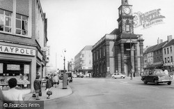 Newcastle Under Lyme, The Town Centre 1965