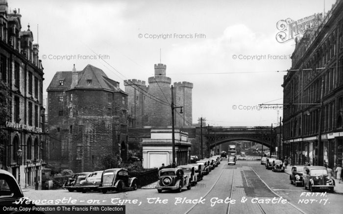 Photo of Newcastle Upon Tyne, Black Gate And Castle c.1955