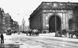 Newcastle Upon Tyne, Central Station 1900