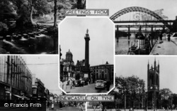 Newcastle Upon Tyne, Composite c.1955