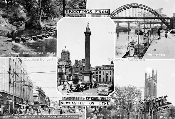 Photo of Newcastle Upon Tyne, Composite c1955, ref. N16043