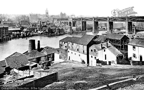 Photo of Newcastle Upon Tyne, from Rabbit Banks c1898, ref. N16304