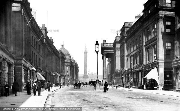 Photo of Newcastle Upon Tyne, Grey Street 1890, ref. N16317