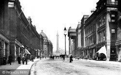 Newcastle Upon Tyne, Grey Street 1890