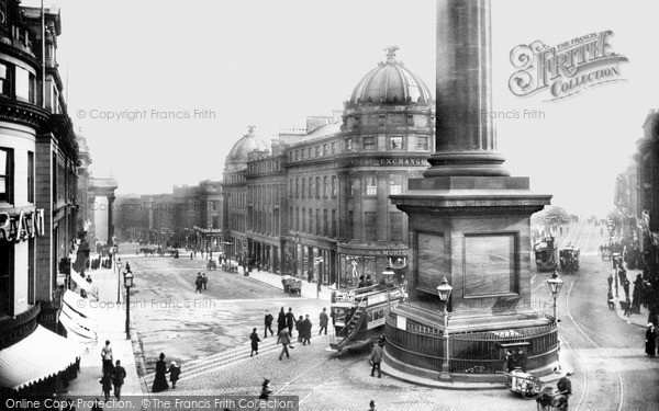 Newcastle upon Tyne, Grey Street 1900
